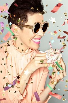 Karen Walker turns campaign star for her eponymous sunglasses brand's tenth anniversary. Fashion Themes, Party Fashion, Karen Walker, Best Part Of Me, Editorial Fashion, Fashion Photography, Portrait, Celebrities, Collection
