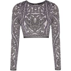 Hervé Léger Mackenzie cropped matelassé jacquard-knit top ($650) ❤ liked on Polyvore featuring tops, crop top, purple, knit crop top, knit top, white knit top, herve leger top and cut-out crop tops