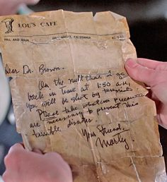 Marty's letter to Doc Brown