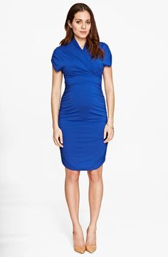 Isabella Oliver 'Grace' Ruched Maternity Dress available at #Nordstrom