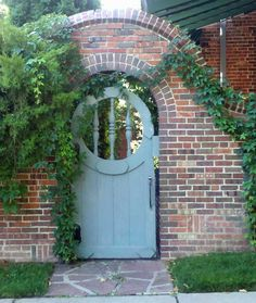 31 Awesome Rustic Wooden Garden Gates You Never Seen Before - Fence gates are commonly used to protect the perimeters of a house or any property. It encloses an area for security. It is also used in order to show. Garden Entrance, Garden Doors, Entrance Gates, Garden Gates, Fence Gates, Garden Arches, Fences, Garden Art, Brick Wall Gardens