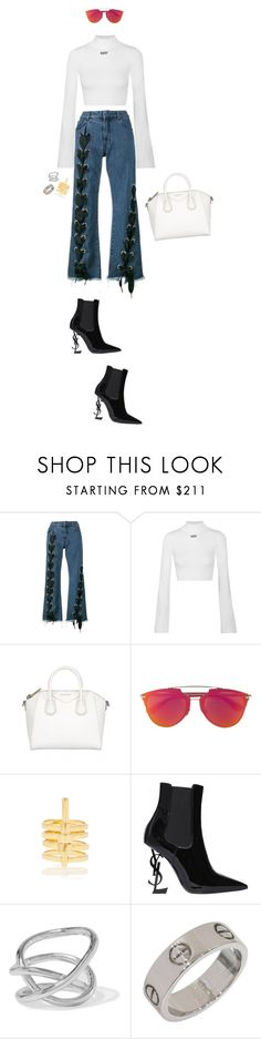 """it's ma birthday! pt.2"" by styledbyadanna ❤ liked on Polyvore featuring Marques'Almeida, Off-White, Christian Dior, Paula Mendoza, Yves Saint Laurent and Jennifer Fisher"
