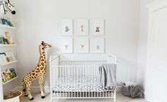We're taking a peek inside the bright and airy safari-inspired nursery that Veronika Romeis of the lifestyle blog Veronika's Blushing designed for her son.
