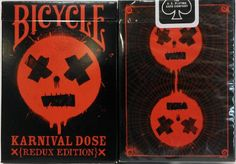 cartes à jouer Karnival RED Dose Deck Bicycle Playing Cards -Redux Edition (Ltd…