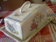 chintzy butter dish