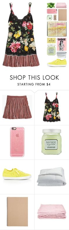 """#3009"" by megan-vanwinkle ❤ liked on Polyvore featuring Madewell, Dolce&Gabbana, Casetify, CASSETTE, Laura Mercier, Philippe Model, Frette, Muji, abcDNA and Fuji"