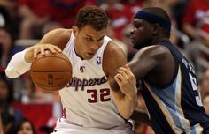 2013 NBA Playoffs Western Conference Round 1: LA Clippers (4) vs Memphis Grizzlies (5).  Blake Griffin's lackluster playoff performance 13.2 PPG / 5.5 RPG / 2.5 APG was the turning point to Clippers' disappointing first round knockout. Zach Randolph and Marc Gasol continued to dominate as the best front court duo in the league.