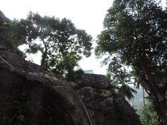 Chaitya on top of a rock