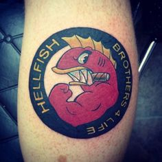 Hellfish Design by Stay True Tattoos Hellfish HellfishTattoo Simpsons SimpsonsTattoos StayTrueTattoos