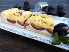 Raspberrybrunette: Jemný kysnutý ovocný koláč s tvarohom a maslovou p... French Toast, Muffin, Treats, Cheese, Breakfast, Sweet, Recipes, Hampers, Sweet Like Candy