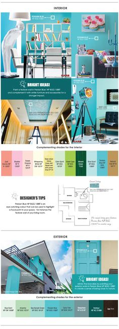 Nippon Paint - Trend Beyond Colours 2015 16 : Persian Blue Nippon Paint, Persian Blue, Blue Rooms, Dream Rooms, Exterior, Colours, Painting, Inspiration, Design