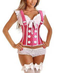 Love this Pink Button Suspender Underbust Corset - Women & Plus by Daisy Corsets on #zulily! #zulilyfinds