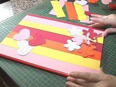 Artesanato: Decoração de capa de caderno - YouTube