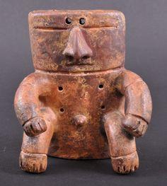 A pre-Columbian pottery figure