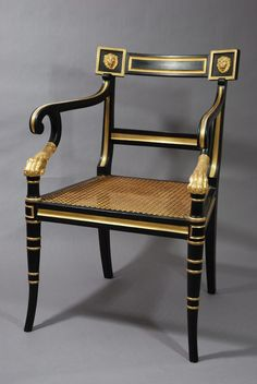 Antiques Atlas - Regency Style Open Armchair