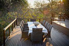 Deck dining on safari