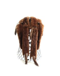 Vintage 40s 6 Pelt Mink Fur Shawl Stole by lakesidecottage on Etsy