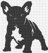 Resultado de imagen de french bull dog cross stitch