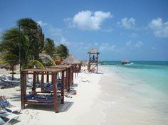 The beach at our Mexico vacation:  Azul Beach Hotel, by Karisma