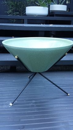 Vintage Mid Century Retro Atomic Case Study Architectural Planter Plant Stand #USAPottery