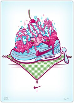 Illustrations for Nike by PEACHBEACH , via Behance