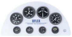 En oferta Reloj Negro Uflex 53 mm Indicador Posición Trim para motores Mercury-Mariner-Volvo