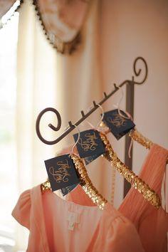 Wedding DIY Projects - A Keepsake Hanger for the Bride & Bridesmaids