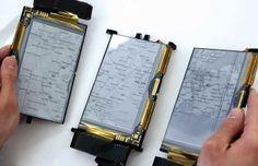 El nuevo smartphone desplegable como se ve en la imagen se puede separar en 3 partes y sigue funcionando.