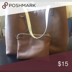 Brown tote bag Brown tote bag with small zip pouch included! Bags Totes