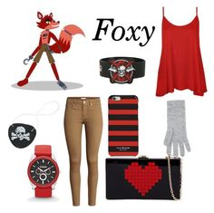"""Foxy (FNAF)"" by skrillylover16 on Polyvore featuring Harrods, H&M, WearAll and Isaac Mizrahi"