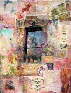 Love the layering and then over-colors to pull it all together. -- mixed media collage