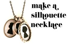 DIY silhouette necklace how to make - mother's day Do It Yourself Inspiration, Crafty Craft, Crafting, Diy Schmuck, Jewelry Crafts, Jewelry Ideas, Unique Jewelry, Diy Gifts, Handmade Gifts