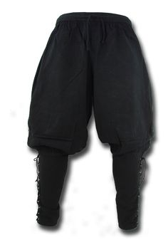 Viking Pants, black Due to the lacing at the waist the Viking Pantsare variable in width and very comfortable to wear. The narrow cutted calves provide a baged look at the upper legs and therefore the Viking Pants can be... Viking Costume, Medieval Costume, Medieval Clothing, Historical Clothing, Viking Pants, Cyberpunk Fashion, Mens Fashion, Fashion Outfits, Character Outfits