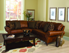 England Furniture 7160-27, 7160-22, 7160-28 with Roman Auburn, Hikari Night and Alonzo Wren fabrics