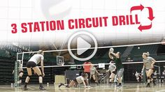 The defense circuit drill offers double benefits: it conditions players while training them to make better defensive plays. See how Colorado State coach Tom Hilbert runs this drill that pushes players to go for every ball. Volleyball Passing Drills, All Volleyball, Volleyball Skills, Volleyball Practice, Volleyball Training, Volleyball Workouts, Volleyball Quotes, Coaching Volleyball, Volleyball Motivation