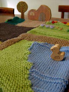 Happy Whimsical Hearts: Mini knitted farm