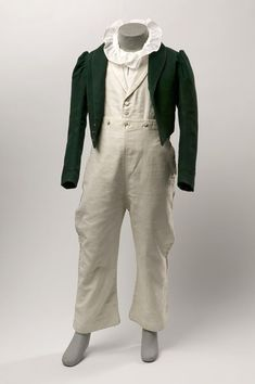 Boy's suit  Place of origin: Scotland, Britain (made)  Date: 1825-30 (made)  Materials and Techniques: [Jacket] Cloth, silk, braid, metal  [...