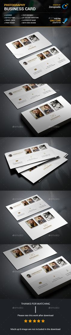 Photography Business Card Template PSD. Download here: https://graphicriver.net/item/photography-business-card/17494582?ref=ksioks