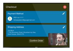 A concept for what it would be like ordering fast-food on Android TV…