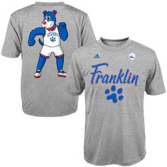 Philadelphia 76ers adidas Youth Paw Franklin Mascot Name & Number T-Shirt - Gray - $17.59
