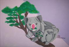 Koala fusión de ilustración y graffiti 3D #rekorises