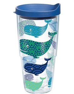 Whale Wrap with Lid - 24oz tumbler