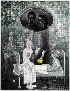 Иллюстрации Каспера Божека (Kacper Bożek). Мастер рассказывает Бездомному свою историю.