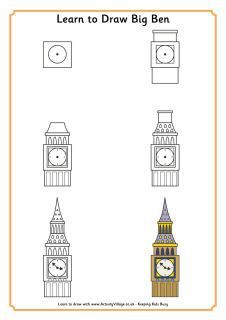 How to draw Big Ben