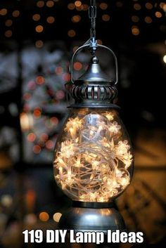 119 Very Cool DIY Lamp Ideas.... this is the easiest way to bring some character into a home!!!