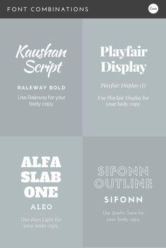 Font combinations! Some excellent new type techniques to try in your next design. #fonts #design #inspiration #type