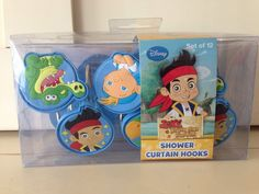Disney Jake and the Neverland Pirates Shower Curtain Hooks Set of 12 hooks NWT