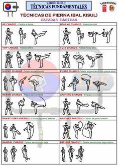 More Basic Chagis (Kicks) w/Korean Terminology & Images tecnicas de pierna chagui karate and tae kwon do Korean Martial Arts, Kung Fu Martial Arts, Martial Arts Styles, Martial Arts Workout, Martial Arts Training, Boxing Workout, Mixed Martial Arts, Taekwondo Video, Taekwondo Techniques