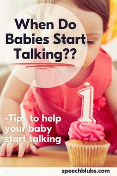 Such a major question - when will my baby talk? Read on to find typical speech and language development as well as some tips to help get your baby to start talking. It's such a fun baby milestone! Development Milestones, Language Development, Baby Development, Baby Milestones, Baby Learning Toys, Fun Baby, Mom Quotes, Speech And Language, Cool Baby Stuff