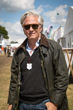 Barbour People — Robert has completed a smart, country style with...